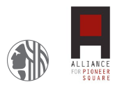 City of Seattle and Alliance of Pioneer Square icons